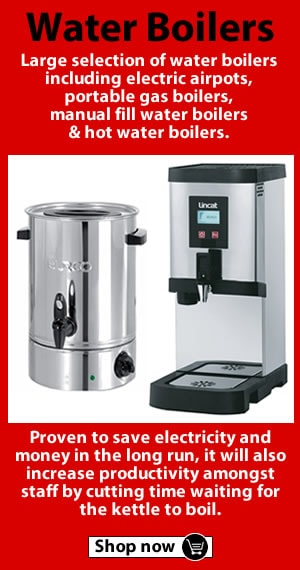 Browse our Airpots, Lincat water boilers and Burco boilers
