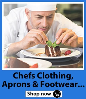 Browse the range of Chefs Clothing, Chefs Jackets, Chefs Trousers & Chefs Shoes