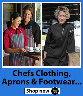 Chefs Clothing, Jackets, Trousers & Footwear
