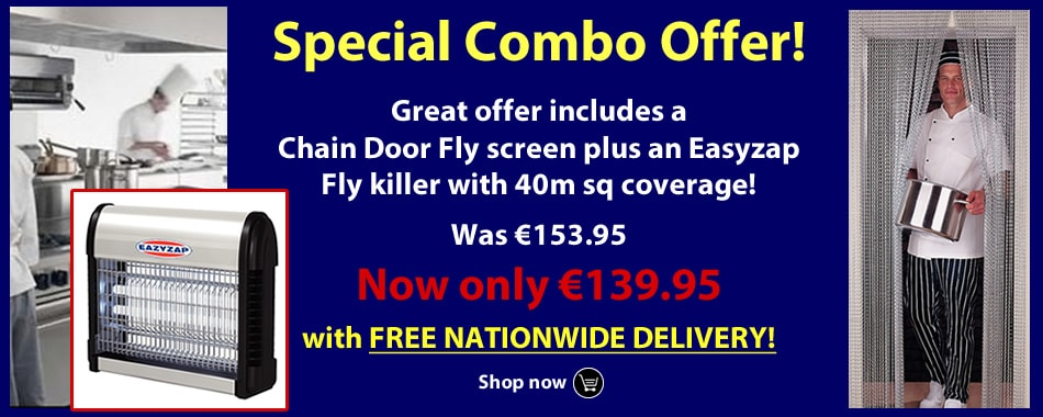 Buy our Special Offer Chain Door Fly Screen and Fly Killer combo