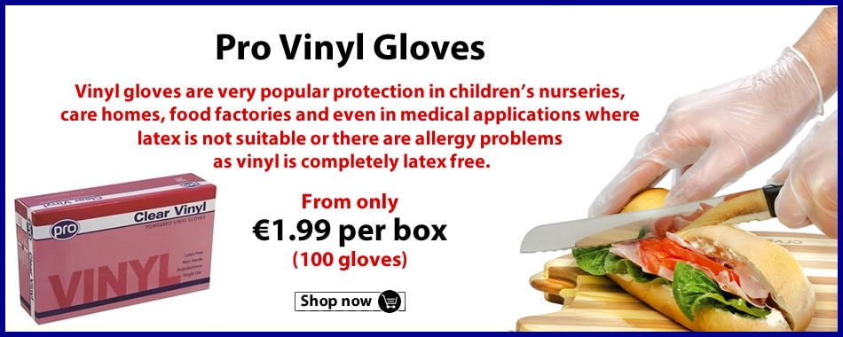 Buy our Pro Vinyl Gloves now!