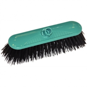 SYR Contract Broom Head Stiff Bristle Green 10.5in