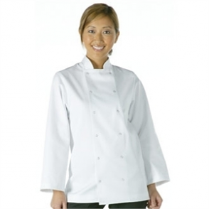 Whites Vegas Unisex Chefs Jacket Long Sleeve White
