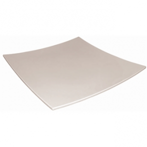 "Curved Square Melamine Plate 405mm (16"") (Sold Single)"