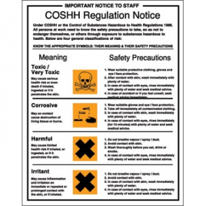 COSSH Regulations Sign