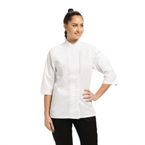 Chefs Coat for Ladies with Cool Vent in White