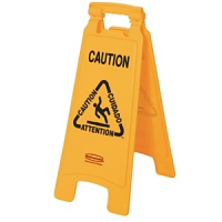 Rubbermaid Multilingual A Frame Wet Floor Safety Sign