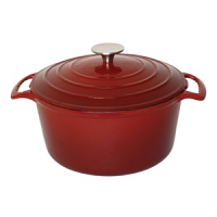 Vogue Red Round Casserole Dish 4Ltr