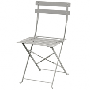Bolero Grey Pavement Style Steel Chairs (Pack of 2)