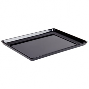 APS Float Black Melamine Tray 1/2GN