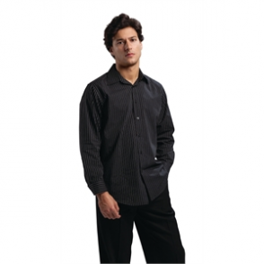 Chef Works Long Sleeve Shirt Pinstripe