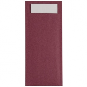 Burgundy Kraft Cutlery pouch with Champagne Napkin (BOX 600)
