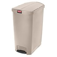 Rubbermaid Slim Step on Side Pedal Beige 90Ltr