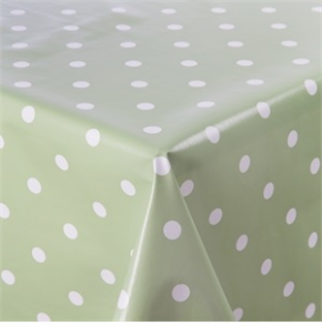 PVC Green Polka Dot Table Cloth S