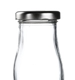 Silver Cap for Mini Milk Bottles (18PP)