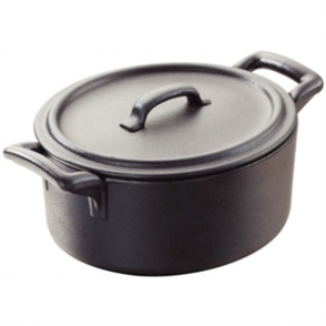 Revol Belle Cuisine Cocotte with Lid 135mm Black (Sold Single)