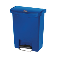 Rubbermaid Slim Jim Step on Bin Front Pedal 30Ltr Blue