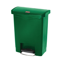 Rubbermaid Slim Jim Step on Bin Front Pedal 30Ltr Green