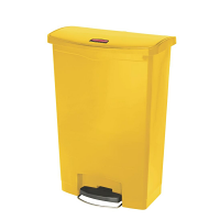 Rubbermaid Slim Jim Step on Bin Front Pedal 90Ltr Yellow