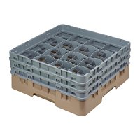 Cambro Camrack Beige 16 Compartments Max Glass Height 174mm