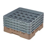 Cambro Camrack Beige 25 Compartments Max Glass Height 215mm