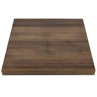 Bolero Pre-drilled Square Table Top Rustic Oak 600mm