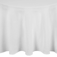 Occasions Round Tablecloth White 3050mm