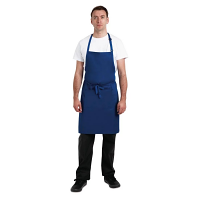 Chef Works Butchers Bib Apron Royal Blue