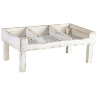 White Wash Wooden Display Crate Stand