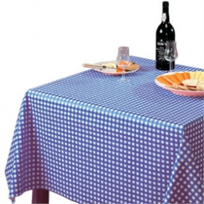 Tablecloth Blue Check - 890x890mm 35x35
