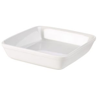 Royal Genware Square Roaster 25.4cm White