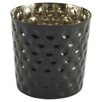 Black Hammered Stainless Steel Serving Cup 8.5 x 8.5cm