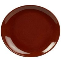 Terra Stoneware Rustic Red Oval Plate 25x22cm