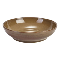 Terra Stoneware Rustic Brown Coupe Bowl 27.5cm