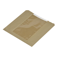 Compostable Sandwich Bag with Window - 216x216mm (Box 1000)