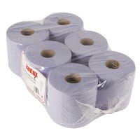 Jantex Centre Feed Roll Blue 1ply - 288m x 180mm (Pack 6)