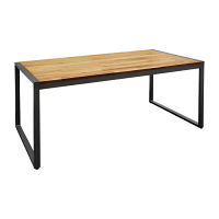 Bolero Steel & Acacia Industrial Table  (1800 x 900mm)
