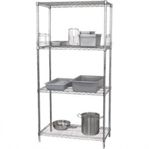 Flat Pack 4 Shelf Unit Chrome Plated 610x1830mm