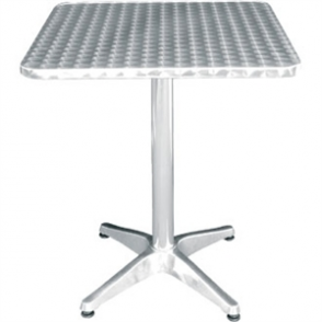 Bolero Square Table with Curved Edge Heavy Duty Base Dia 60x60x72cm