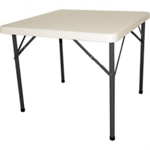 Bolero Square Folding Table 3ft White