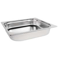Stainless Steel Gastronorm Pan - 2/3 Size 65mm deep