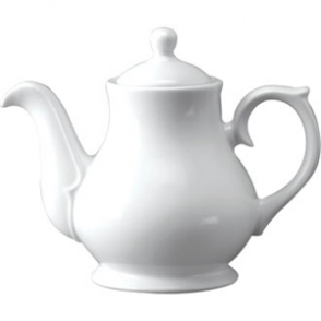 White Sandringham Tea/Coffee Pot 2cup 15oz (Box 4)