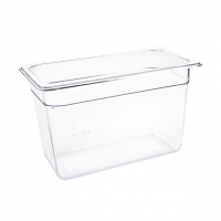 Vogue Polycarbonate 1/3 Gastronorm Container 200mm Clear