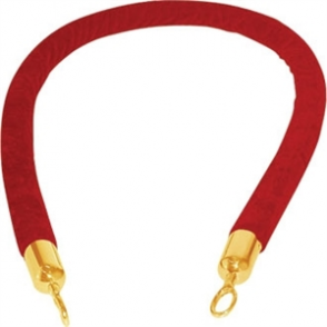 Red Rope for Brass Barrier